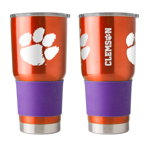 Clemson Tigers Travel Tumbler 30oz Ultra Orange