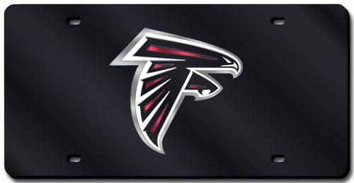 Atlanta Falcons License Plate Laser Cut Black