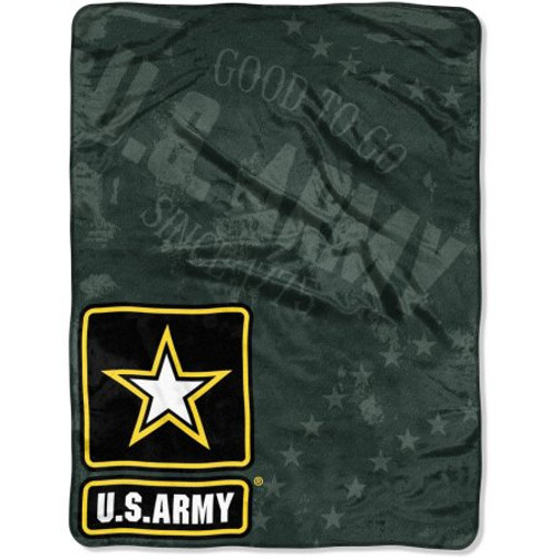 US Army Blanket 46x60 Raschel Good To Go Design