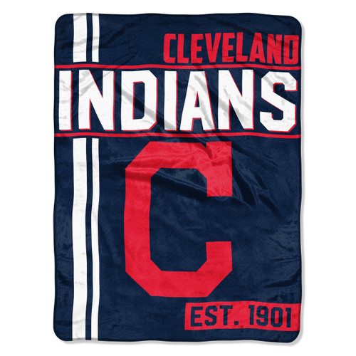 Cleveland Indians Blanket 46x60 Raschel Walk Off Design Rolled