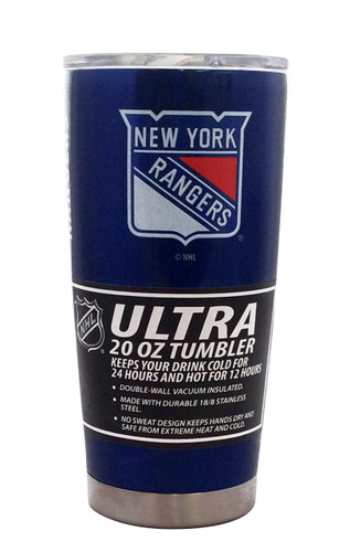 New York Rangers Travel Tumbler 20 oz Ultra Flared Blue
