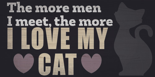 "Pet Sign Wood I Love My Cat 10""x5"""