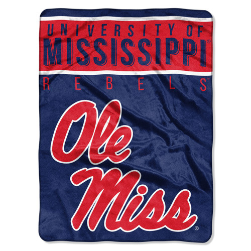 Mississippi Rebels Blanket 60x80 Raschel Basic Design Special Order