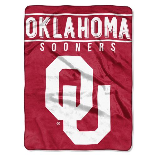 Oklahoma Sooners Blanket 60x80 Raschel Basic Design Special Order