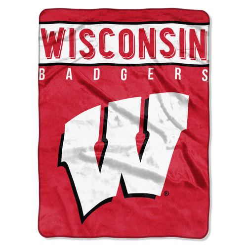 Wisconsin Badgers Blanket 60x80 Raschel Basic Design Special Order