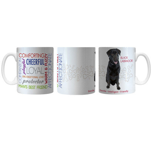 Pet Coffee Mug 11oz Black Labrador