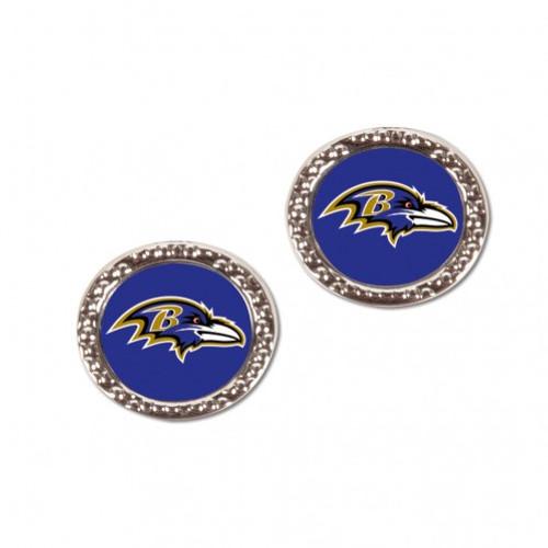 Baltimore Ravens Earrings Post Style