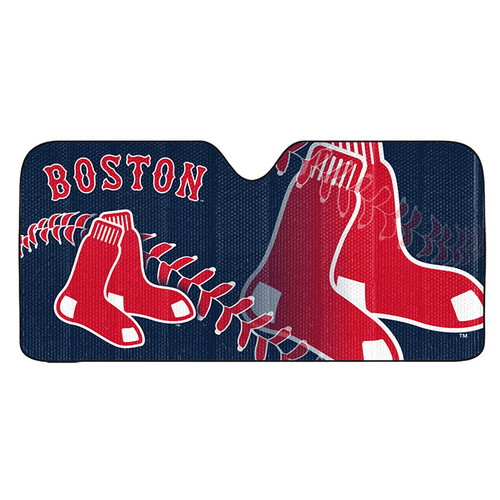 Boston Red Sox Auto Sun Shade 59x27
