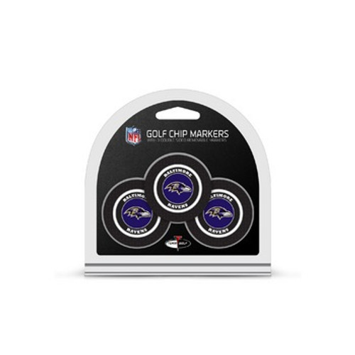 Baltimore Ravens Golf Chip with Marker 3 Pack