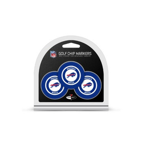Buffalo Bills Golf Chip with Marker 3 Pack
