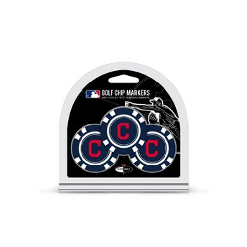 Cleveland Indians Golf Chip with Marker 3 Pack
