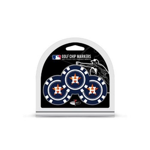 Houston Astros Golf Chip with Marker 3 Pack
