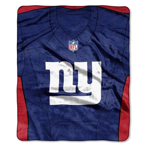 New York Giants Blanket 50x60 Raschel Jersey Design