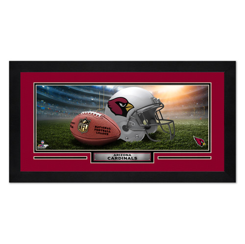 Arizona Cardinals Print 13x7 Framed Helmet in Stadium Design