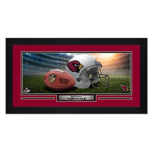 Arizona Cardinals Print 13x7 Framed Helmet in Stadium Design