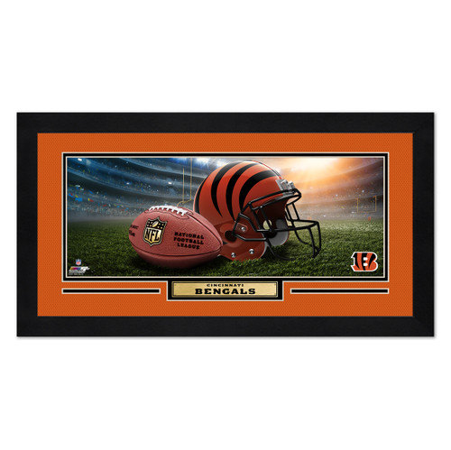 Cincinnati Bengals Print 13x7 Framed Helmet in Stadium Design