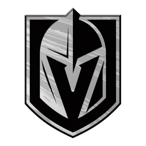 Vegas Golden Knights Auto Emblem Silver Chrome
