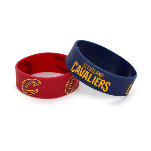 Cleveland Cavaliers Bracelets 2 Pack Wide