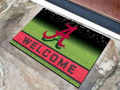 Alabama Crimson Tide Door Mat 18x30 Welcome Crumb Rubber