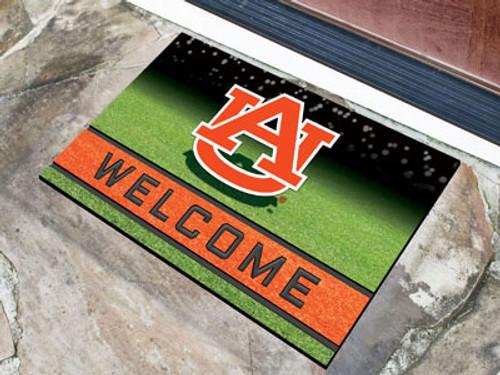 Auburn Tigers Door Mat 18x30 Welcome Crumb Rubber