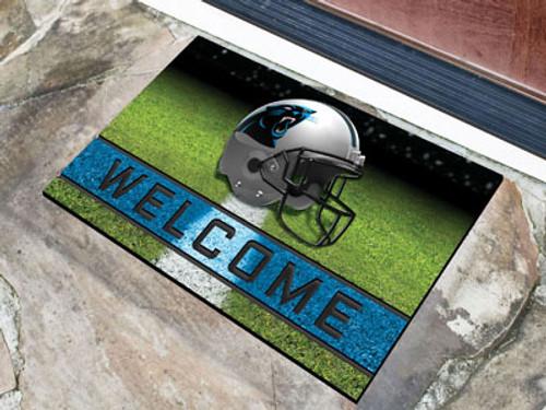 Carolina Panthers Door Mat 18x30 Welcome Crumb Rubber