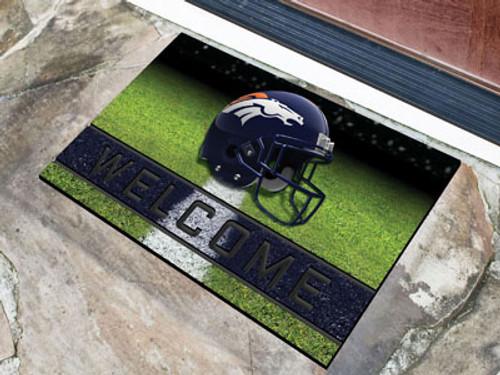 Denver Broncos Door Mat 18x30 Welcome Crumb Rubber