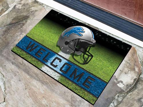 Detroit Lions Door Mat 18x30 Welcome Crumb Rubber