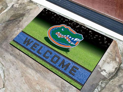 Florida Gators Door Mat 18x30 Welcome Crumb Rubber