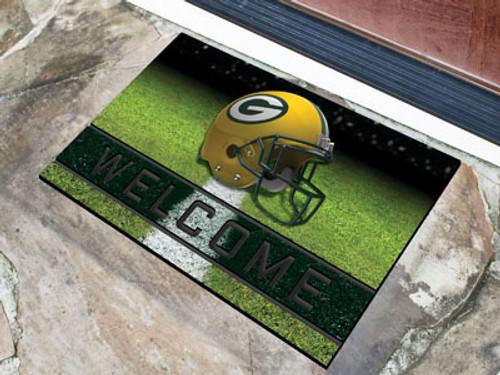 Green Bay Packers Door Mat 18x30 Welcome Crumb Rubber
