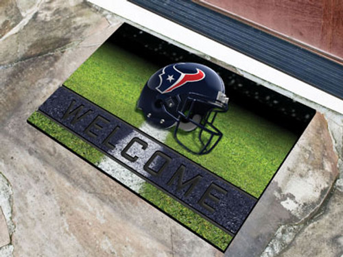 Houston Texans Door Mat 18x30 Welcome Crumb Rubber