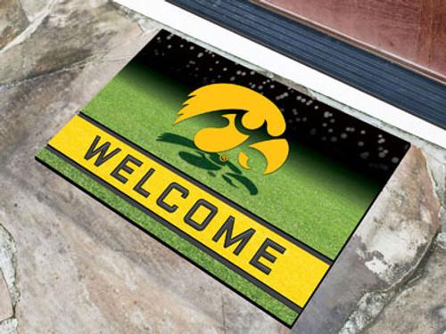 Iowa Hawkeyes Door Mat 18x30 Welcome Crumb Rubber