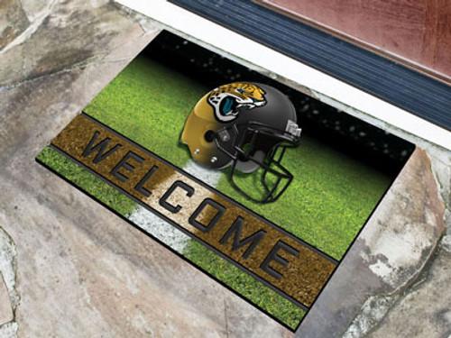 Jacksonville Jaguars Door Mat 18x30 Welcome Crumb Rubber