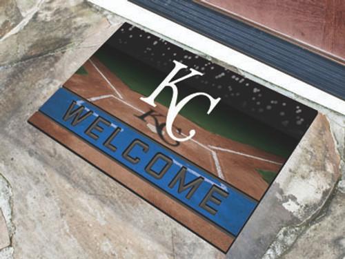 Kansas City Royals Door Mat 18x30 Welcome Crumb Rubber
