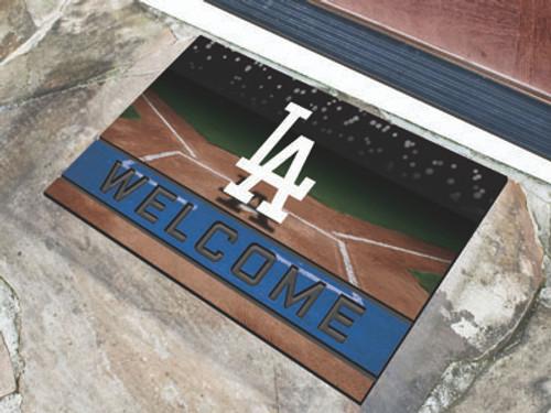 Los Angeles Dodgers Door Mat 18x30 Welcome Crumb Rubber