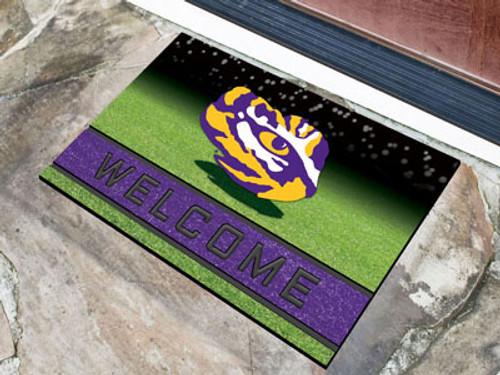 LSU Tigers Door Mat 18x30 Welcome Crumb Rubber