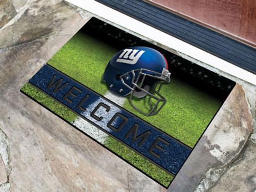 New York Giants Door Mat 18x30 Welcome Crumb Rubber