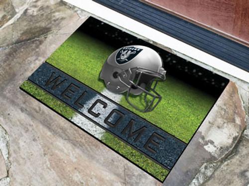 Oakland Raiders Door Mat 18x30 Welcome Crumb Rubber