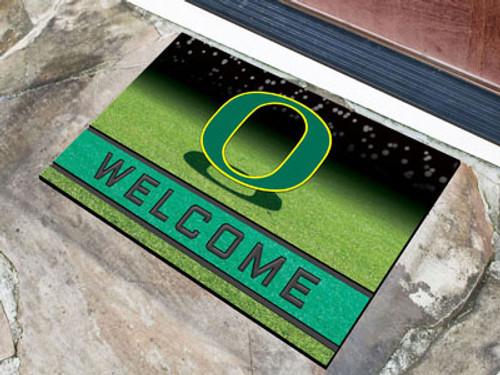 Oregon Ducks Door Mat 18x30 Welcome Crumb Rubber