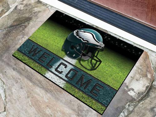 Philadelphia Eagles Door Mat 18x30 Welcome Crumb Rubber