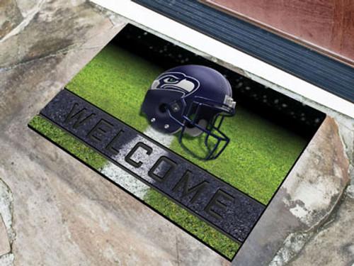 Seattle Seahawks Door Mat 18x30 Welcome Crumb Rubber