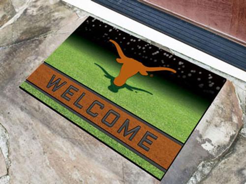 Texas Longhorns Door Mat 18x30 Welcome Crumb Rubber