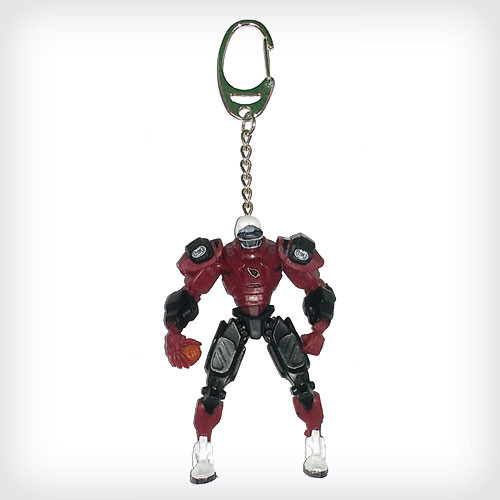 Arizona Cardinals Keychain Fox Robot 3 Inch Mini Cleatus