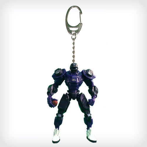 Baltimore Ravens Keychain Fox Robot 3 Inch Mini Cleatus