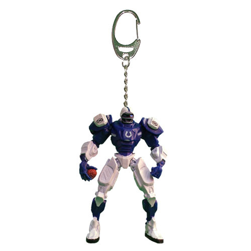 Indianapolis Colts Keychain Fox Robot 3 Inch Mini Cleatus