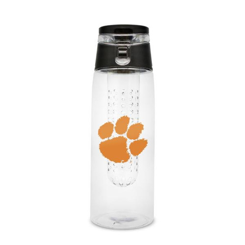 Clemson Tigers Sport Bottle 24oz Plastic Infuser Style