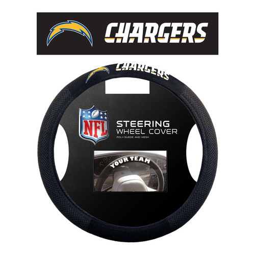 Los Angeles Chargers Steering Wheel Cover Mesh Style
