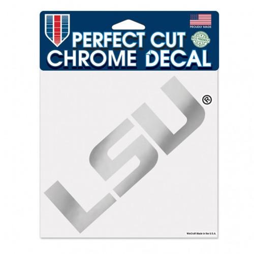 LSU Tigers Decal 6x6 Perfect Cut Chrome