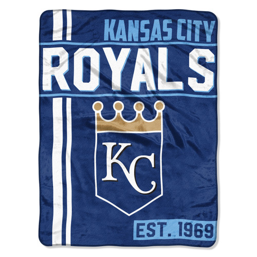 Kansas City Royals Blanket 46x60 Micro Raschel Walk Off Design