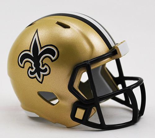 New Orleans Saints Helmet Riddell Pocket Pro Speed Style