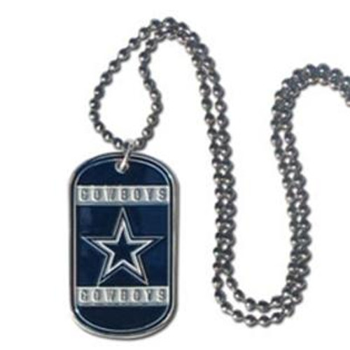 Dallas Cowboys Necklace Tag Style